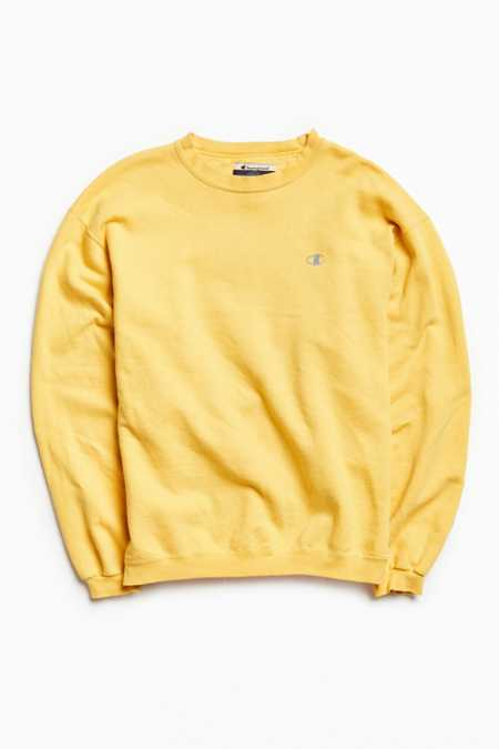 Vintage Champion Buttercup Small Logo Crew Neck Sweatshirt