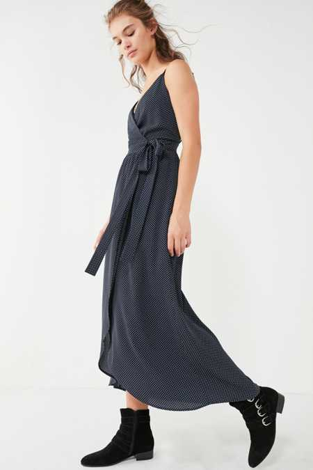 UO Sleeveless Wrap Midi Dress