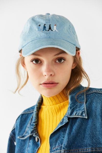 The Beatles Abbey Road Denim Baseball Hat - Indigo One Size at Urban Outfitters