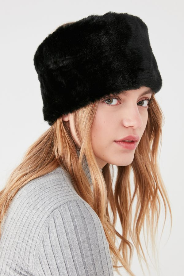 faux fur headband urban outfitters