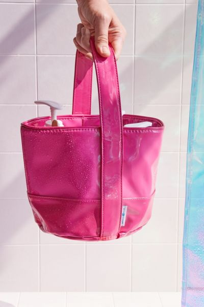 Remy Patent Shower Tote - Pink One Size at Urban Outfitters