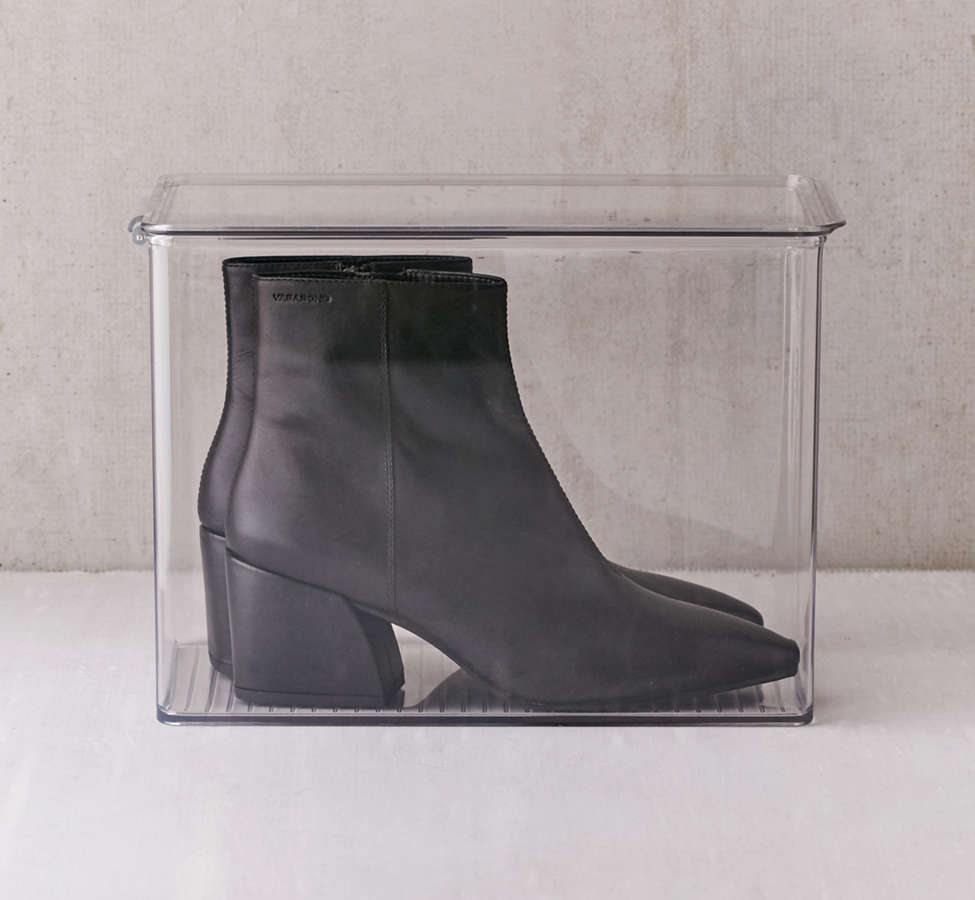 Slide View: 1: Transparent Tall Shoe Box