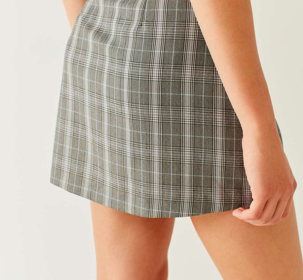Slide View: 3: Side Party Justine Buckle Wrap Mini Skirt