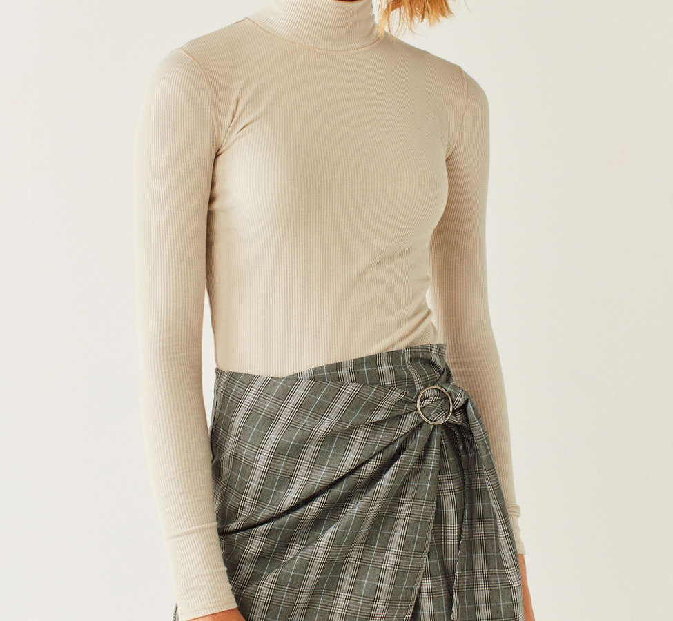 Slide View: 6: Side Party Justine Buckle Wrap Mini Skirt
