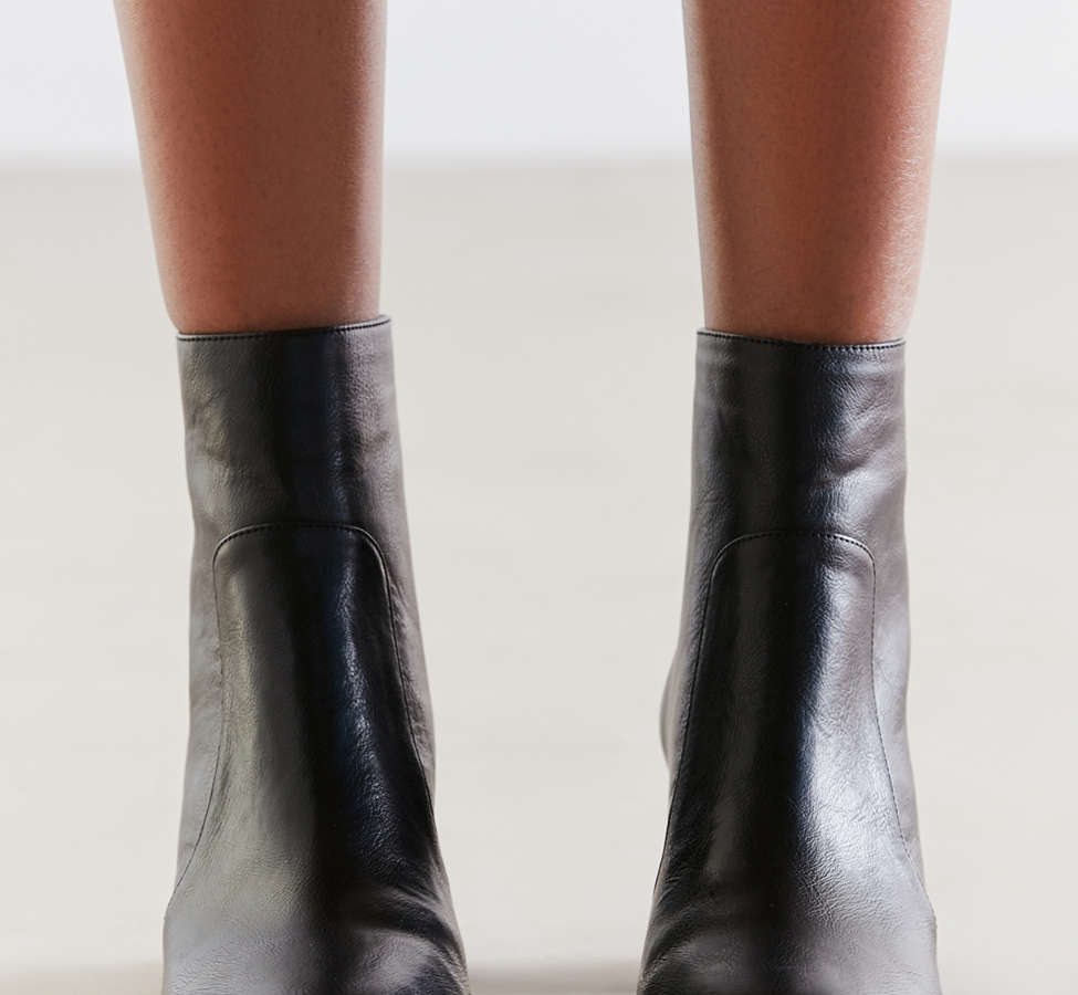 Slide View: 5: Harlow Faux Leather O-Ring Ankle Boot