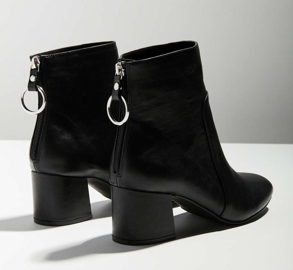 Slide View: 6: Harlow Faux Leather O-Ring Ankle Boot