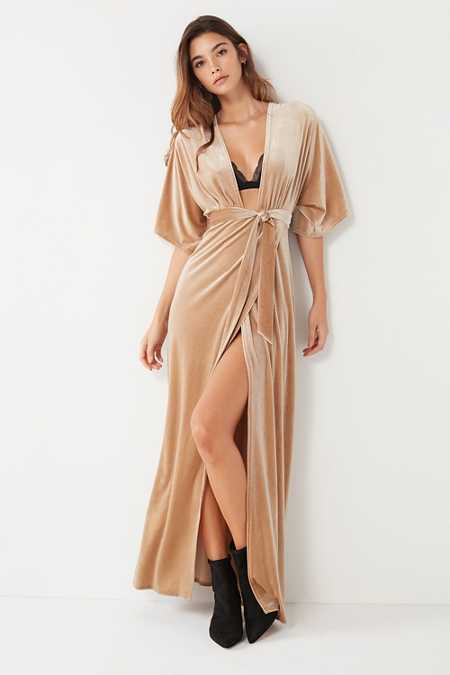Wyldr London Dreamer Velvet Maxi Dress