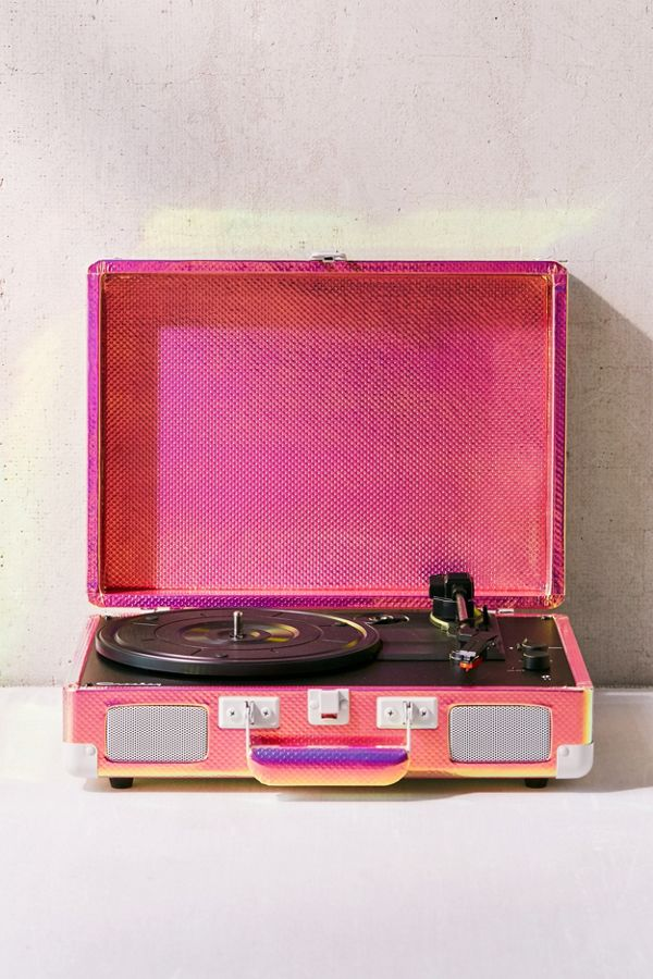 crosley uo exclusive rainbow holographic cruiser bluetooth record player urban outfitters. Black Bedroom Furniture Sets. Home Design Ideas