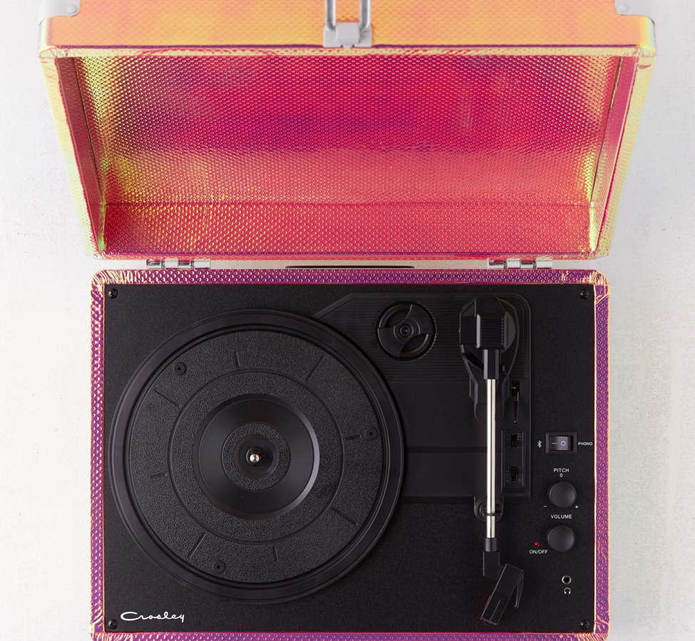 Slide View: 3: Crosley Rainbow Holographic Cruiser Bluetooth Record Player