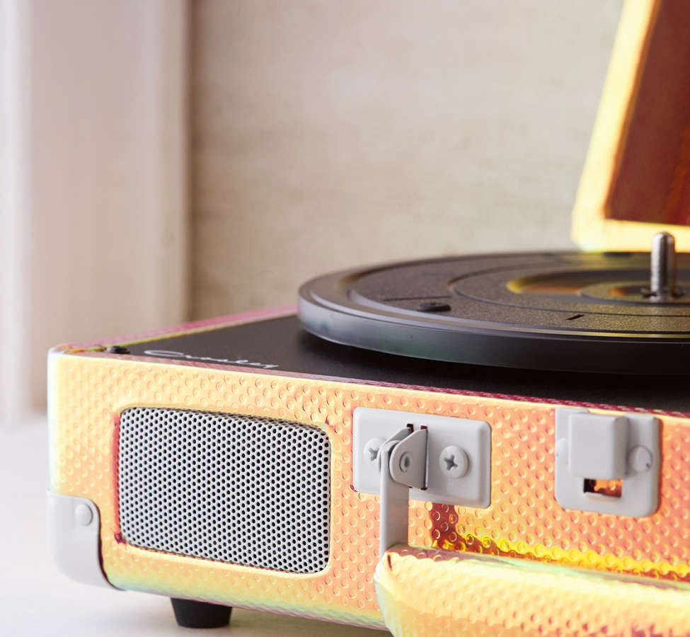 Slide View: 4: Crosley Rainbow Holographic Cruiser Bluetooth Record Player