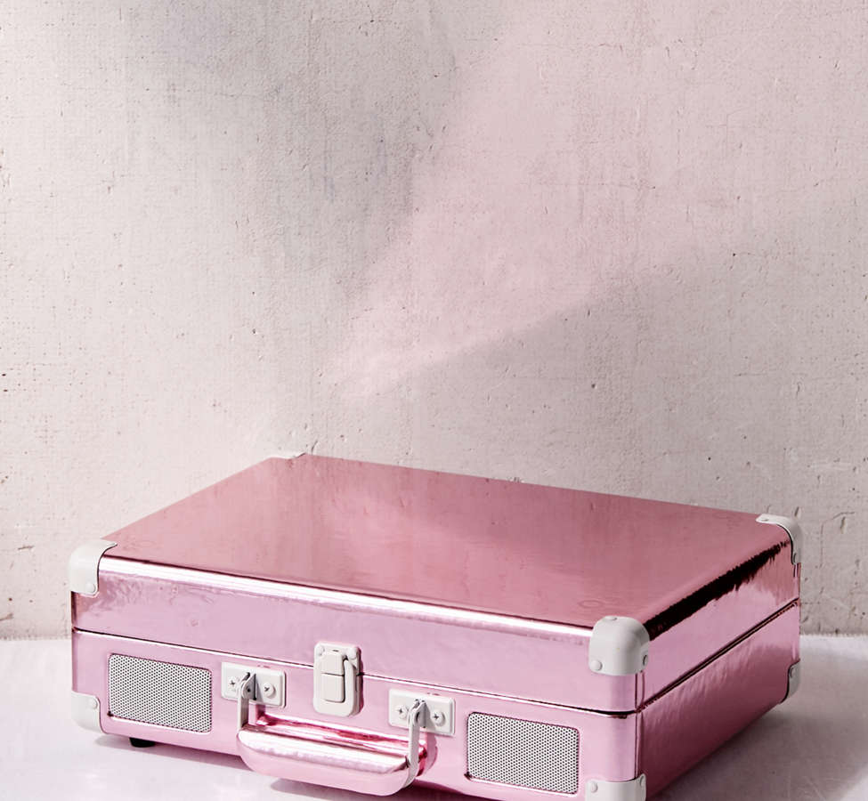 Slide View: 2: Crosley Pink Foil Cruiser Bluetooth Record Player