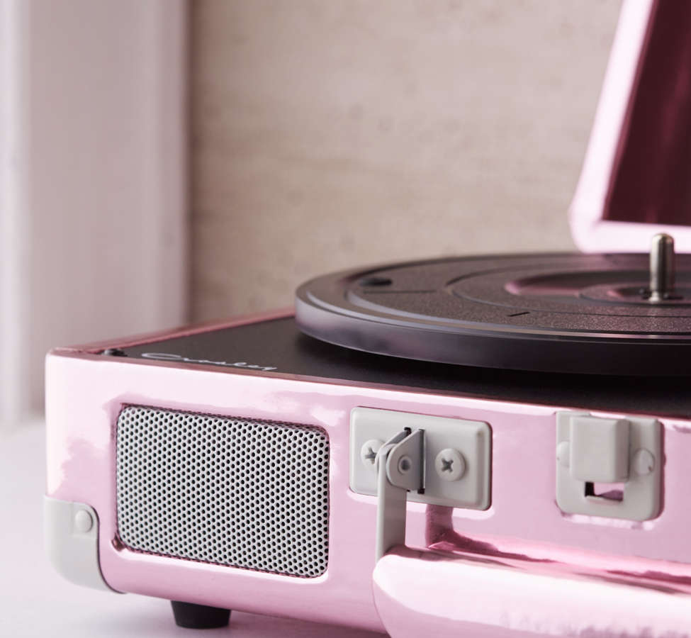 Slide View: 4: Crosley Pink Foil Cruiser Bluetooth Record Player