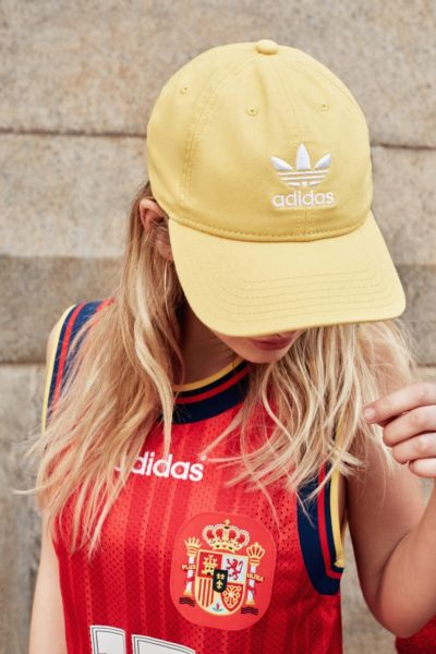adidas Originals Relaxed Strapback Baseball Hat - Yellow One Size at Urban Outfitters