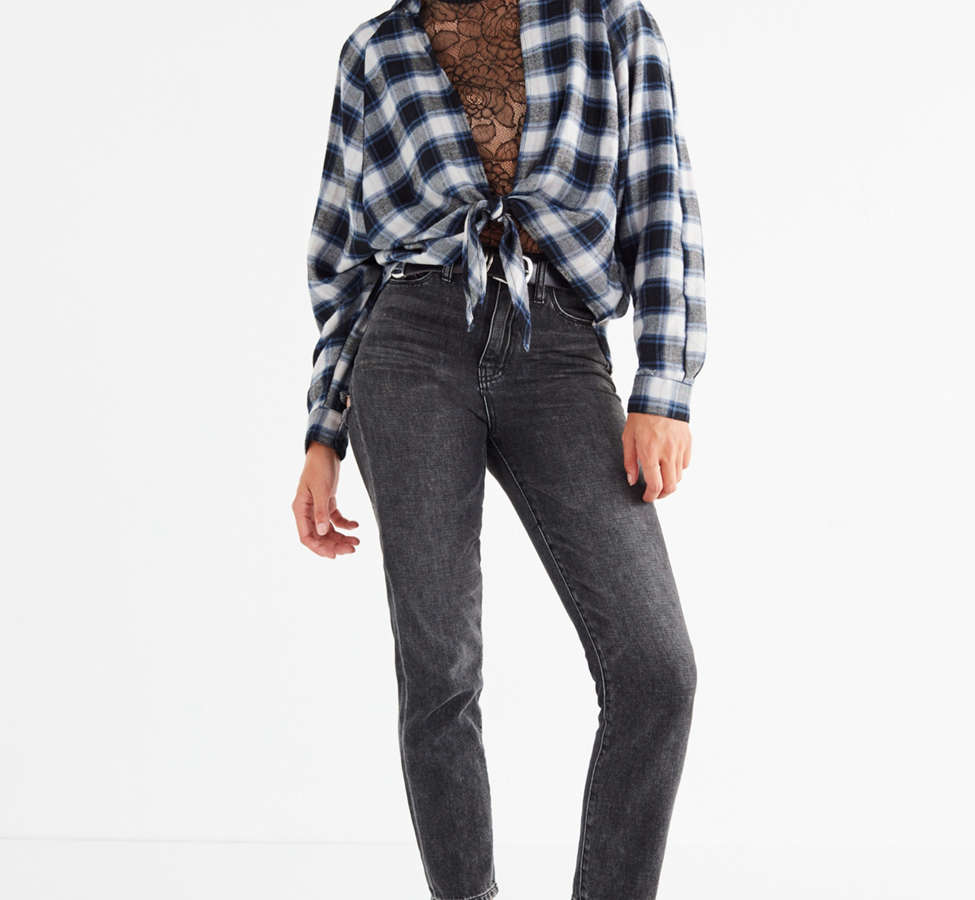 Slide View: 3: UO Courtney Tie-Front Flannel Top