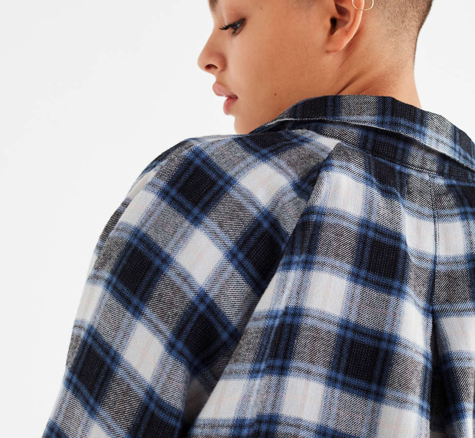 Slide View: 6: UO Courtney Tie-Front Flannel Top