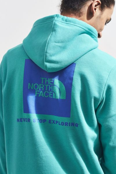 The North Face Red Box Hoodie Sweatshirt - Dark Green S at Urban Outfitters