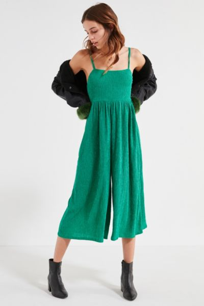 Kimchi Blue Astro Wide-Leg Jumpsuit - Green XS at Urban Outfitters