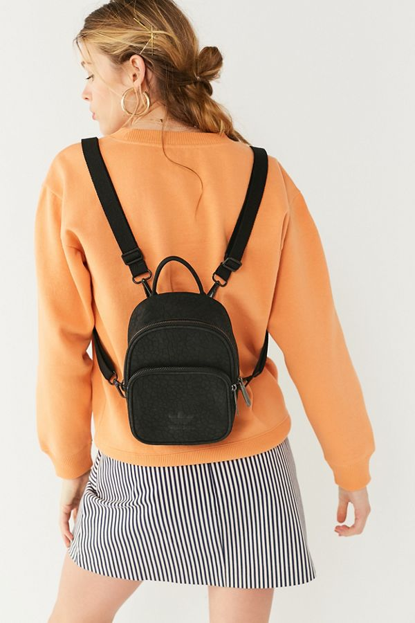 adidas Originals Classic Mini Faux Leather Backpack   Urban Outfitters c35e30daee