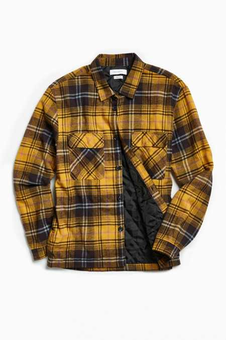 UO Insulated Plaid Flannel Button-Down Shirt