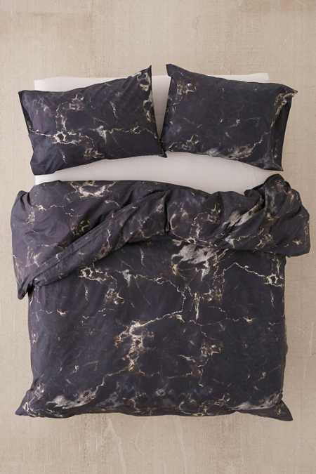 Midnight Marble Duvet Cover