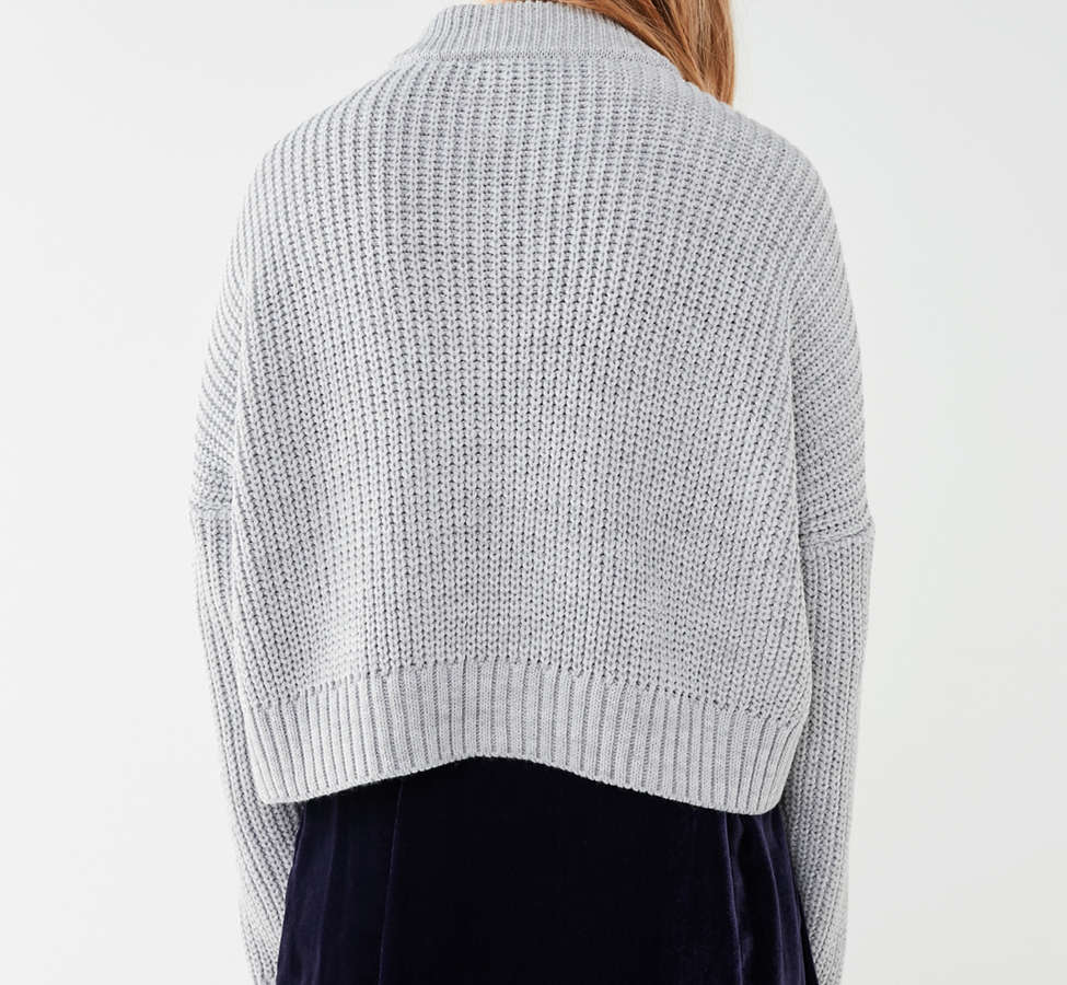 Slide View: 4: UO Cable Knit Half-Zip Sweater