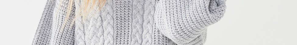 Thumbnail View 6: UO Cable Knit Half-Zip Sweater
