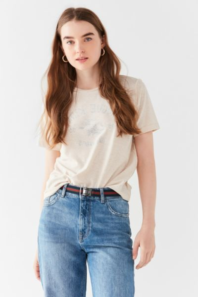 Striped Elastic Belt - Red One Size at Urban Outfitters