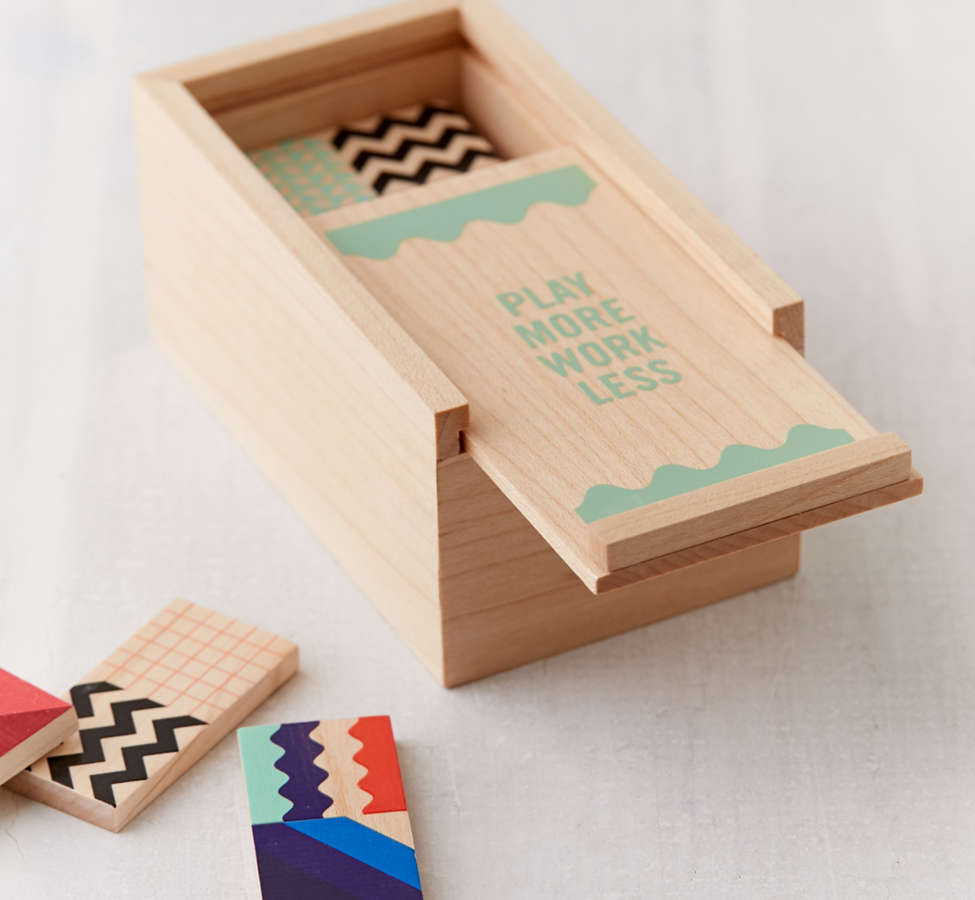 Slide View: 1: UO Modern Dominoes Box Set