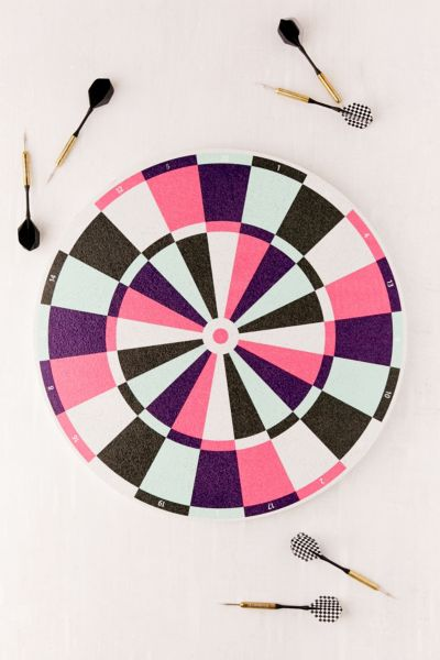 UO Cork Dartboard - Pink One Size at Urban Outfitters