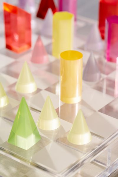 Uo Neon Acrylic Chess Set Urban Outfitters