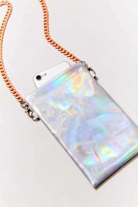 Holographic Crossbody Universal Phone Pouch