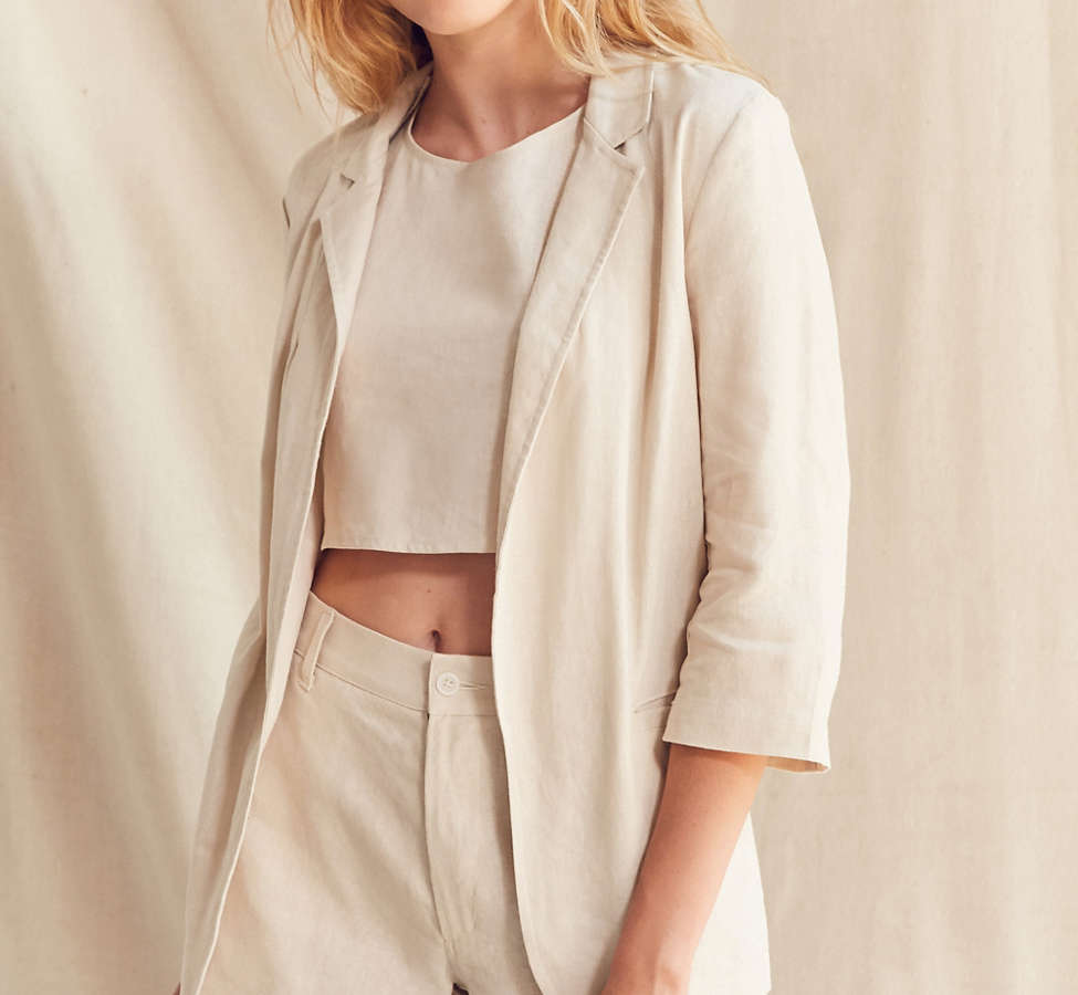 Slide View: 1: Urban Renewal Remade 3-Piece Linen Blazer Set