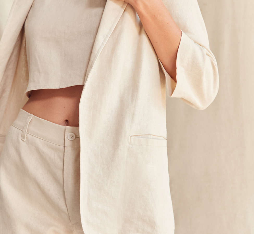 Slide View: 5: Urban Renewal Remade 3-Piece Linen Blazer Set