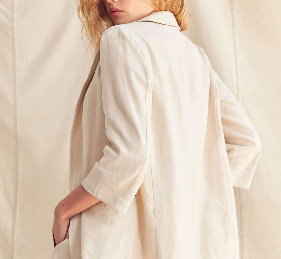 Slide View: 6: Urban Renewal Remade 3-Piece Linen Blazer Set