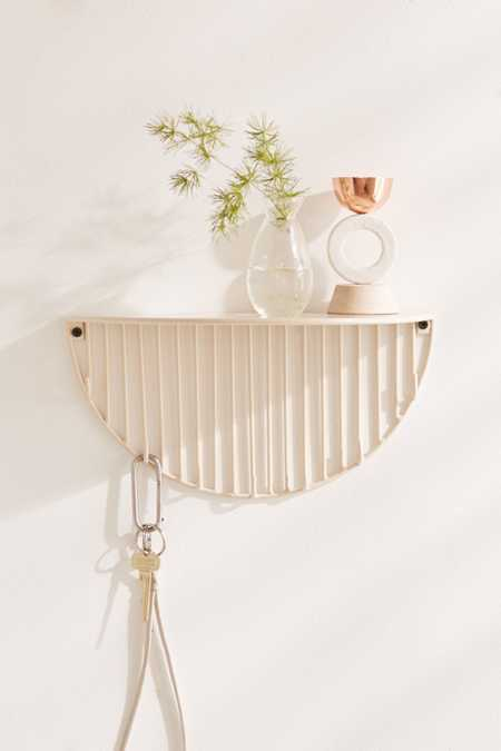 Optic Lines Wall Hook Shelf