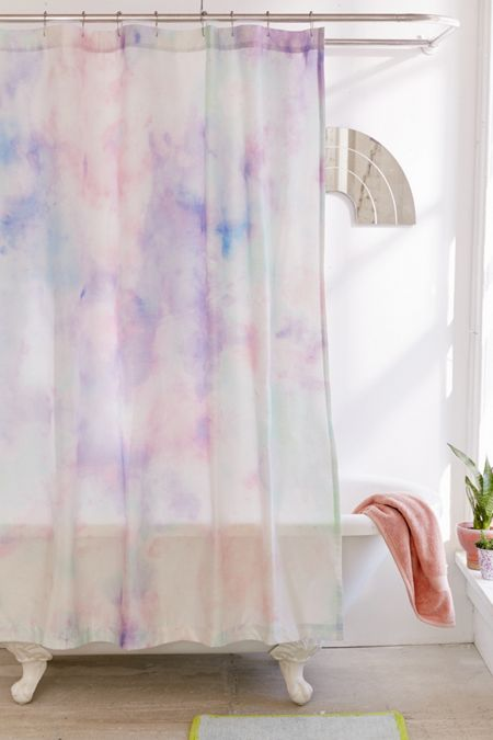 Rainbow Dye Shower Curtain Purple  Curtains Bathroom Urban Outfitters