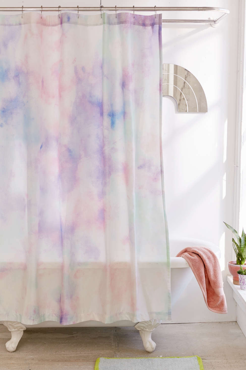 Slide View: 1: Rainbow Dye Shower Curtain