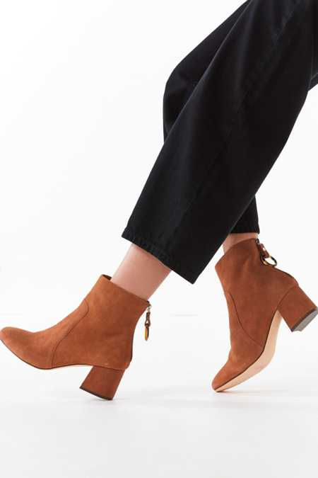 Harlow Suede O-Ring Ankle Boot