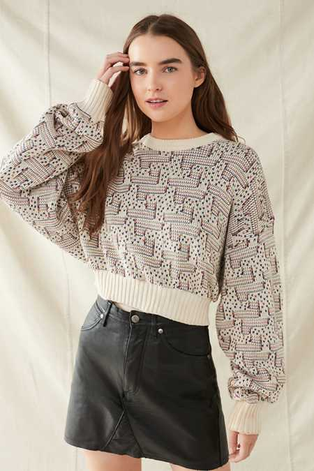 Urban Renewal Recycled Printed Cropped Sweater