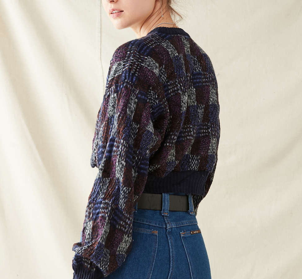 Slide View: 2: Urban Renewal Recycled Printed Cropped Sweater