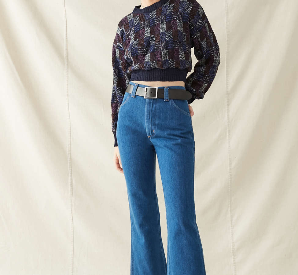 Slide View: 3: Urban Renewal Recycled Printed Cropped Sweater