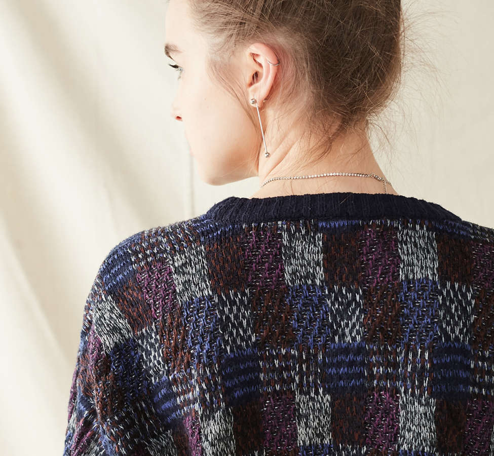 Slide View: 5: Urban Renewal Recycled Printed Cropped Sweater