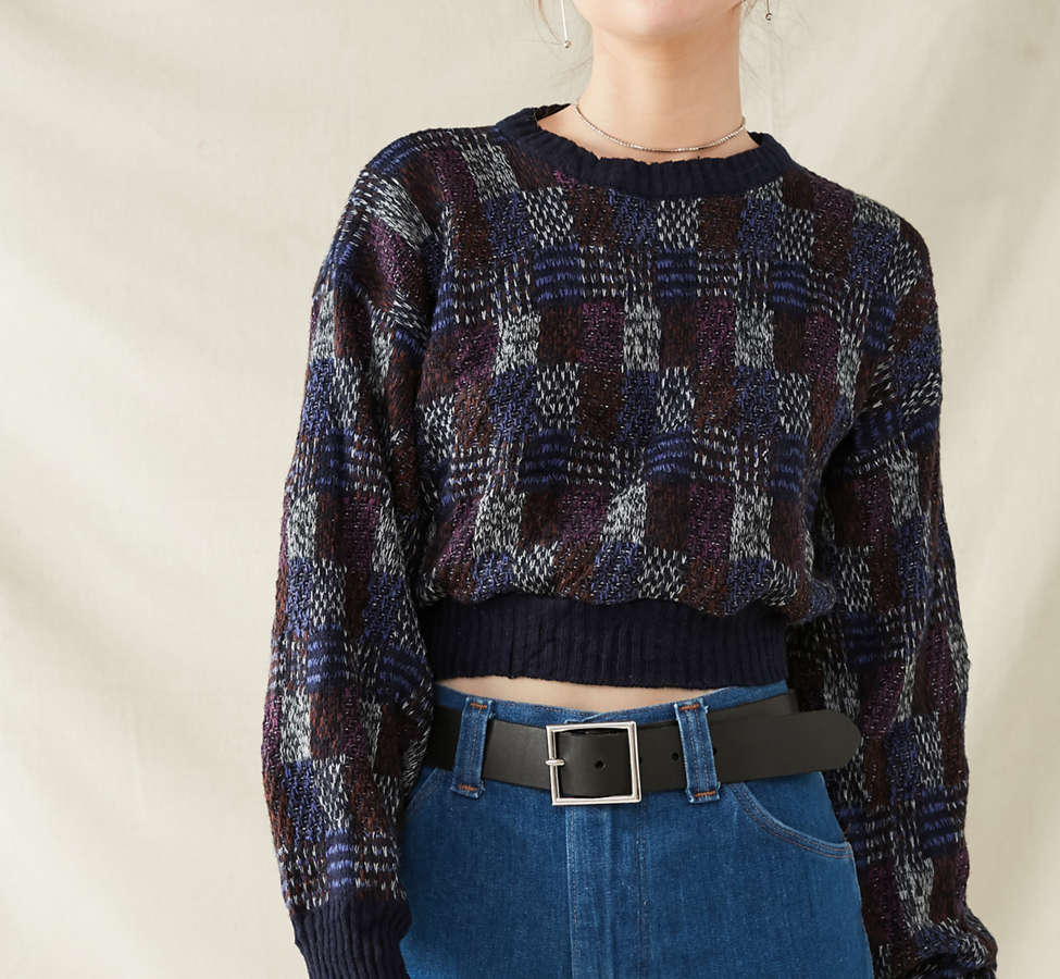 Slide View: 6: Urban Renewal Recycled Printed Cropped Sweater