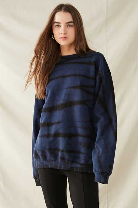 Urban Renewal Recycled Striped Bleach Sweatshirt
