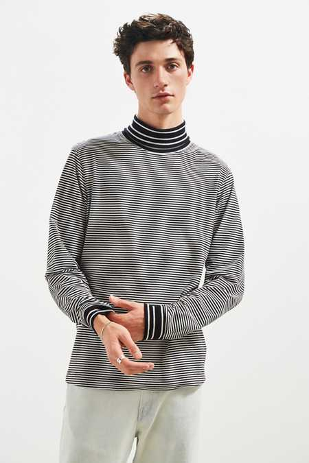 UO Striped Turtleneck Long Sleeve Shirt