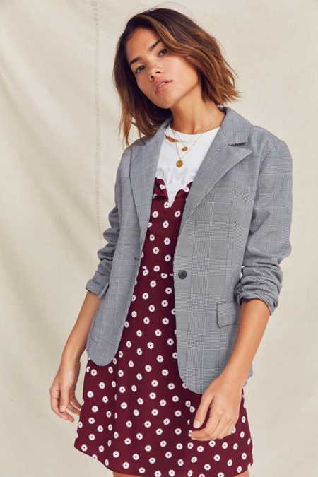 Urban Renewal Remade Checked Blazer