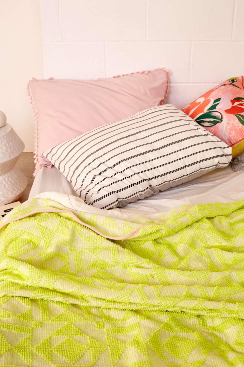 Slide View: 3: Neon Geo Bed Blanket