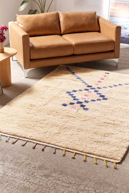Asymmetric Diamond Check Rug