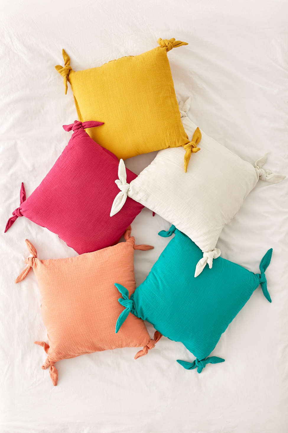 Slide View: 4: Knotted Ties Throw Pillow