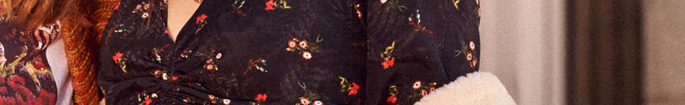 Thumbnail View 1: UO Deep V Cinched Floral Shirt